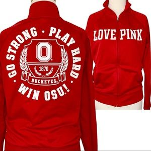 VS PINK The Ohio State Red Varsity Track Jacket